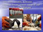 volunteer wildlife waste disposal issues remain some of our most significant challenges