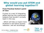 why would you put stem and global learning together