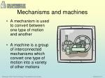 mechanisms and machines