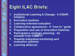 eight ilac briefs