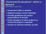 horizontal evaluations within a network andre devaux papa andina