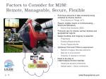 factors to consider for m2m remote manageable secure flexible