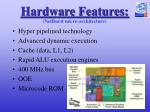 hardware features netburst micro architecture