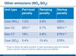 other emissions no x so 2