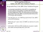 acta and part 68 review update of the rpc data validation program11