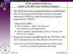 acta and part 68 review update of the rpc data validation program9