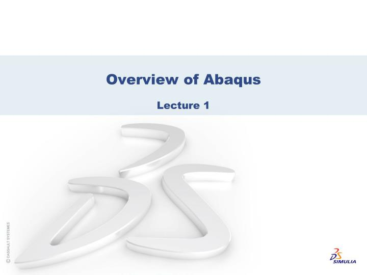 overview of abaqus n.