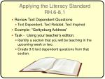 applying the literacy standard rh 6 8 12