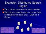 example distributed search engine