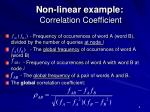 non linear example correlation coefficient