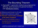 the bounding theorem
