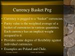 currency basket peg