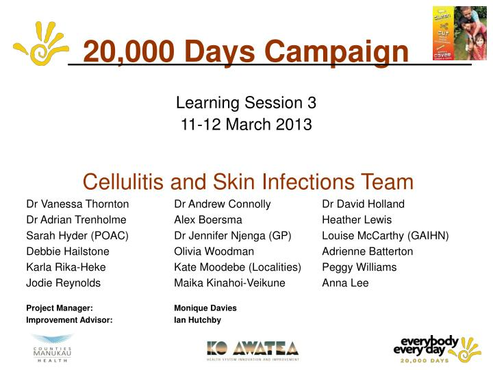 20 000 days campaign learning session 3 11 12 march 2013 n.