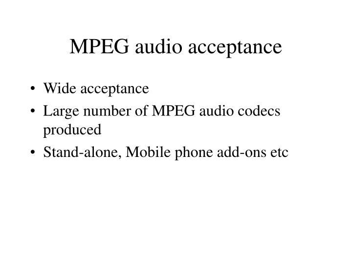 MPEG audio acceptance