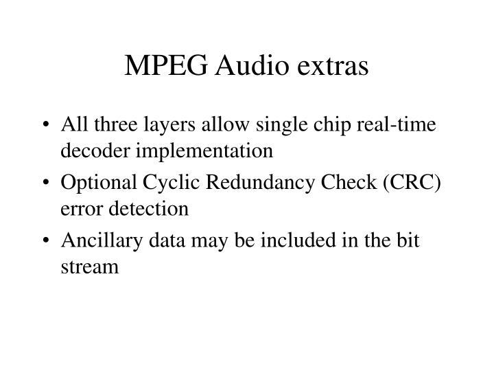 MPEG Audio extras