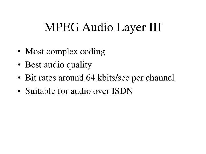 MPEG Audio Layer III