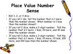 place value number sense