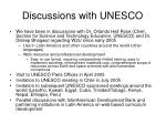 discussions with unesco