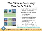 the climate discovery teacher s guide