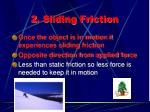 2 sliding friction