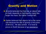 gravity and motion