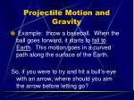 projectile motion and gravity1