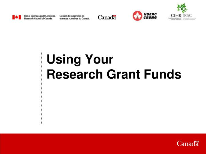 using your research grant funds n.