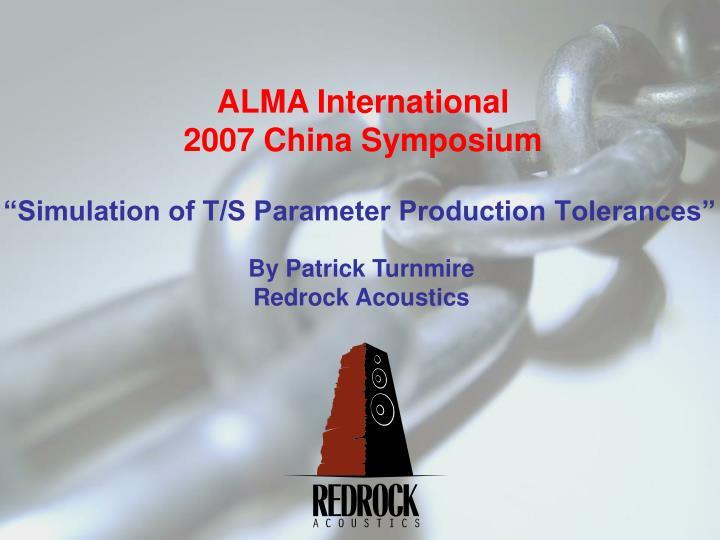 simulation of t s parameter production tolerances n.