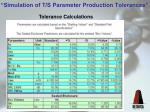 simulation of t s parameter production tolerances10