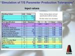 simulation of t s parameter production tolerances9