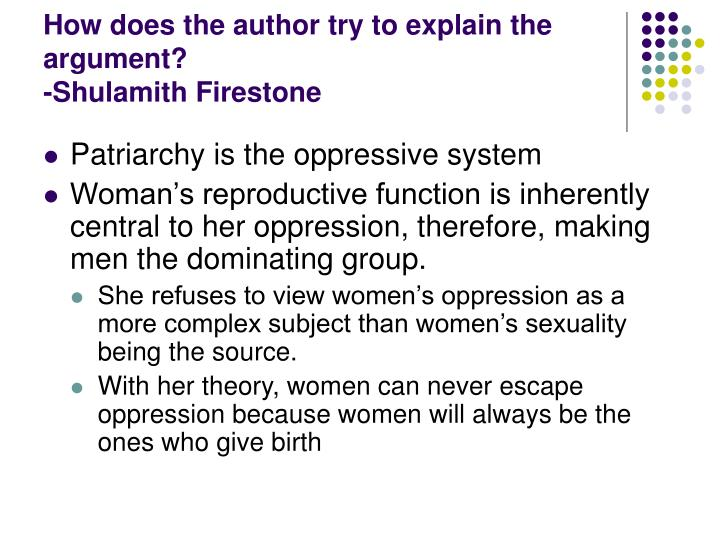 How does the author try to explain the argument?