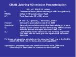 cmaq lightning no emission parameterization