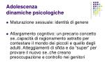 adolescenza dinamiche psicologiche