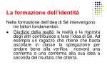 la formazione dell identit6