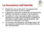 la formazione dell identit8