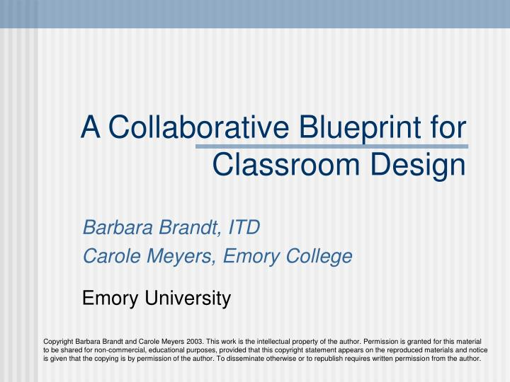 a collaborative blueprint for classroom design n.
