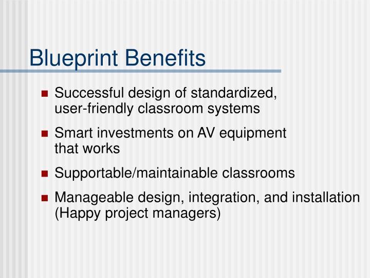 Blueprint Benefits