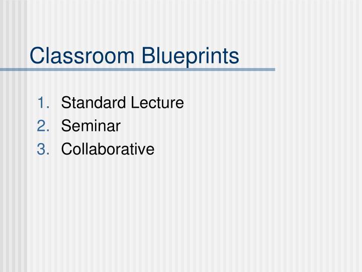 Classroom Blueprints