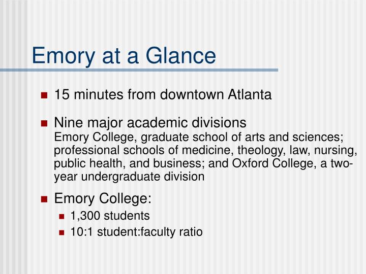 Emory at a Glance