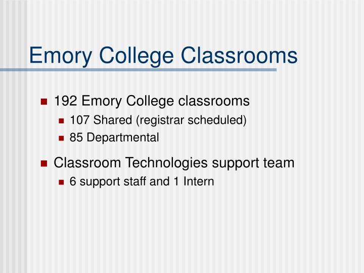 Emory College Classrooms
