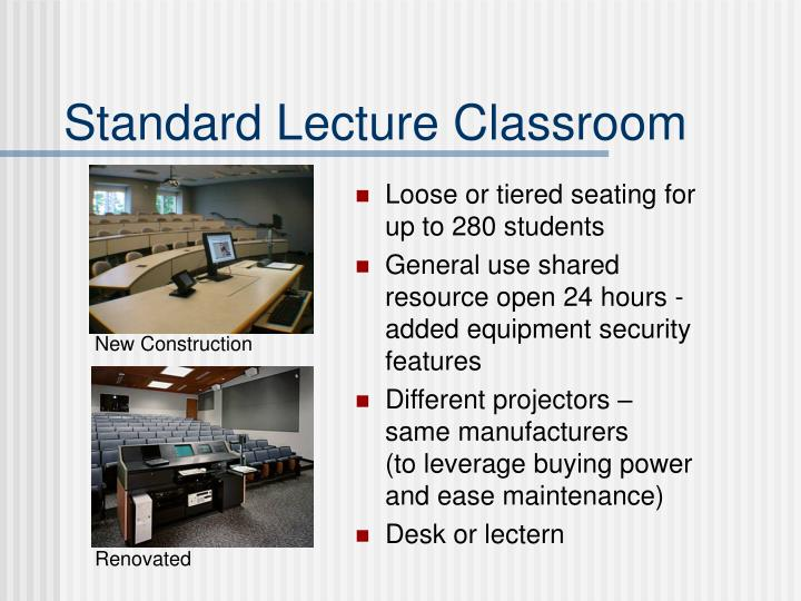 Standard Lecture Classroom