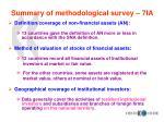summary of methodological survey 7ia2