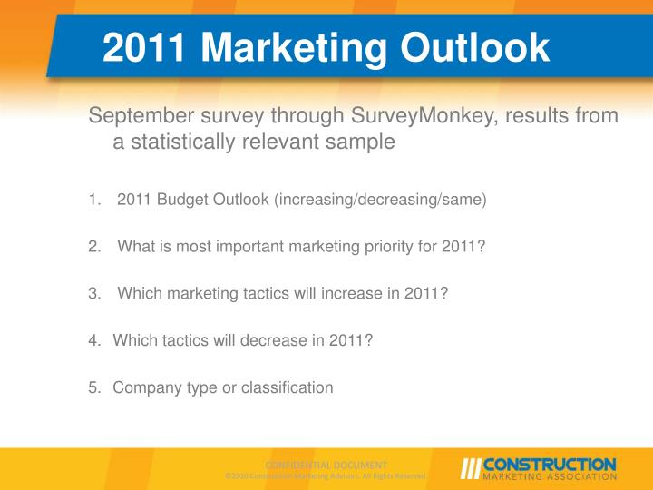 2011 Marketing Outlook