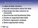 rating analysis documentation