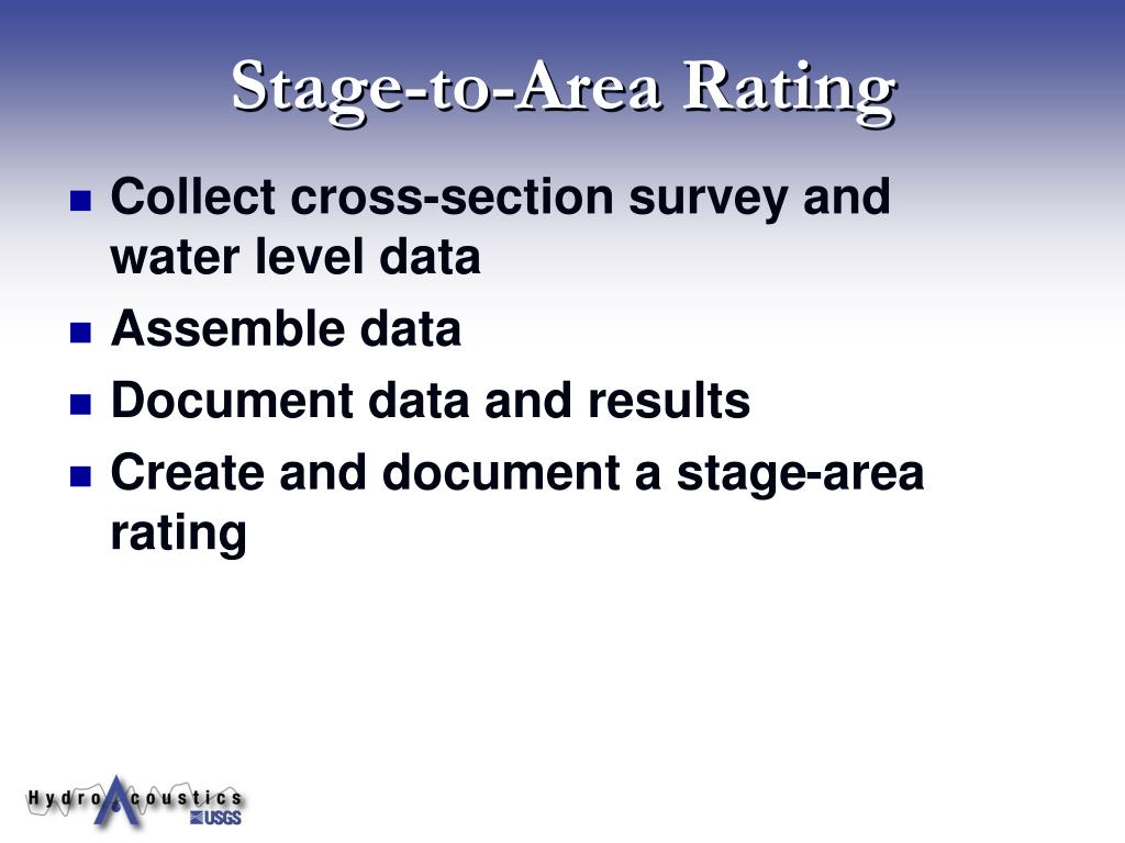 Stage-to-Area Rating