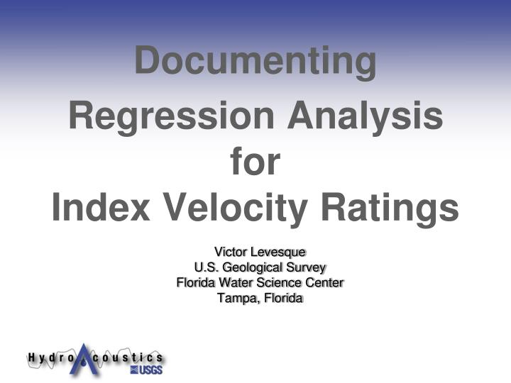 Victor levesque u s geological survey florida water science center tampa florida