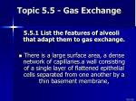 topic 5 5 gas exchange