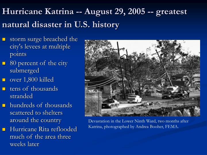 Katrina Natural Disaster