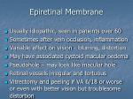 epiretinal membrane