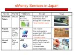 emoney services in japan